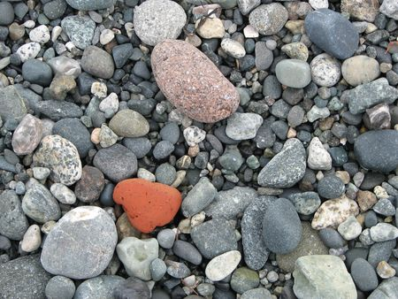Beach pebbles with assorted colors and textures Banco de Imagens