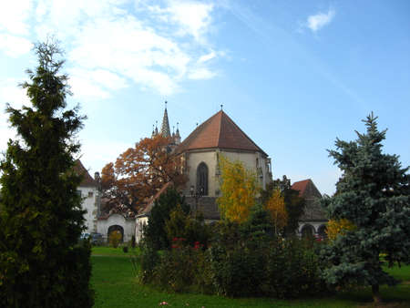 Old church in Trasylvania from ancient times, still standing up.