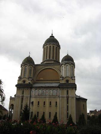 fidelidad: antigua iglesia en Rumania desde la antig�edad, todav�a de pie. Foto de archivo