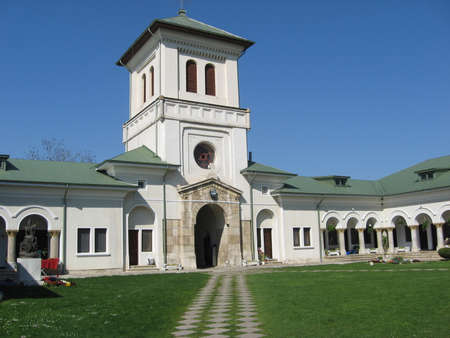 ancient times: Old church in Romania from ancient times, still standing up. Stock Photo