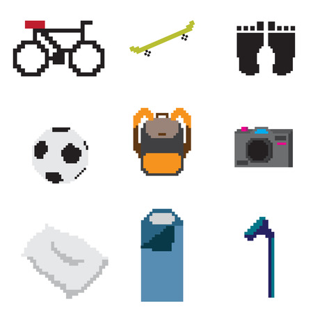 everyday life pixel object Vector