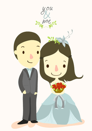 YOU and ME wedding card 01 Stock Vector - 22731902