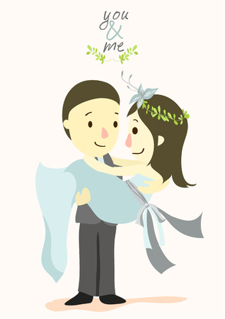 spousal: YOU and ME wedding card 02 Illustration