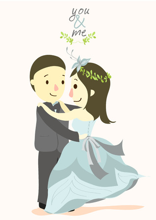 YOU and ME wedding card 03 Stock Vector - 22718942
