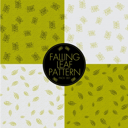 FALLING LEAF PATTERN Vector