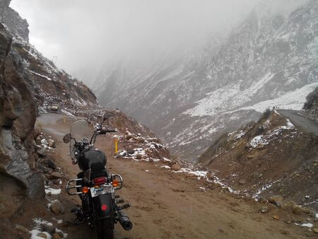 Bike Riding in the High Himalayan Mountains