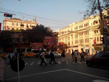 People in the street, Kolkata India