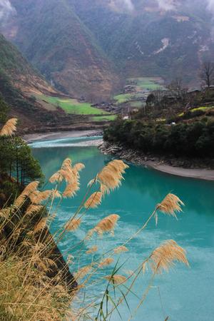 yunnan: Scenery at Nujiang, Yunnan Stock Photo
