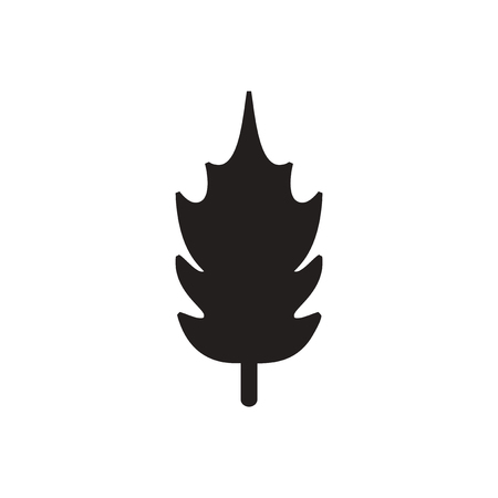 gum tree: black vector icon on white background  tree leaf