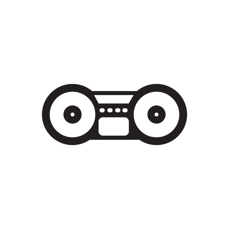 bongos: black vector icon on white background  musical instrument
