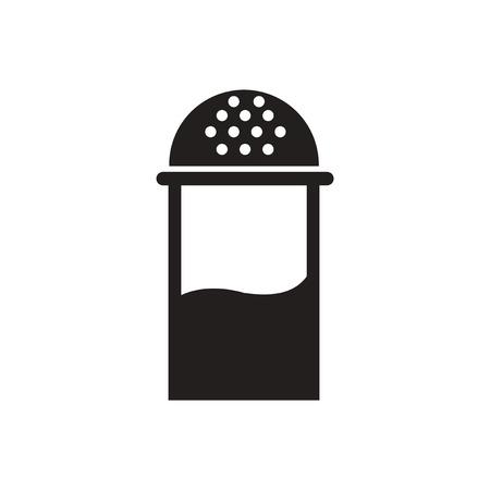 salt shaker: black vector icon on white background  salt shaker