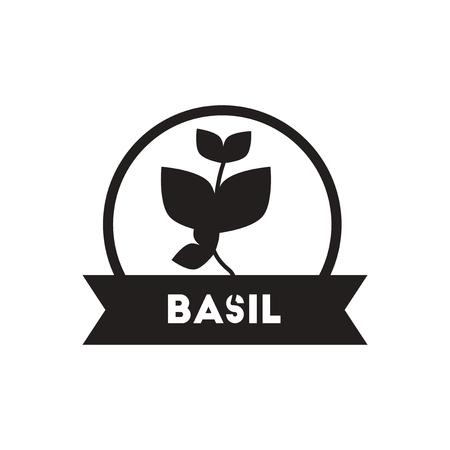 black vector icon on white background  Kitchenware seasoning basil