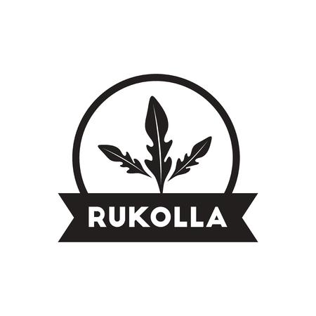 seasoning: black vector icon on white background  Kitchenware seasoning rukolla