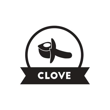 seasoning: black vector icon on white background  Kitchenware seasoning clove