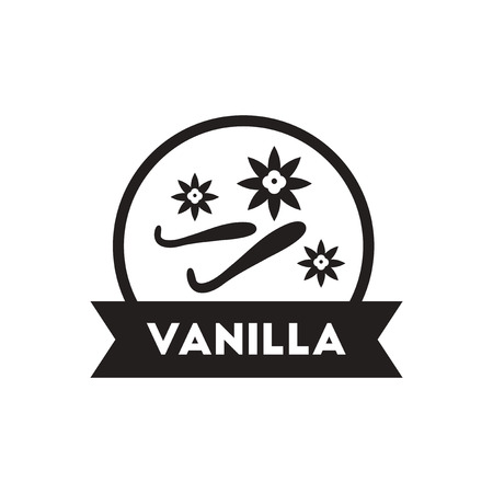 seasoning: black vector icon on white background  Kitchenware seasoning vanilla