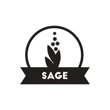 seasoning: black vector icon on white background  Kitchenware seasoning sage Illustration