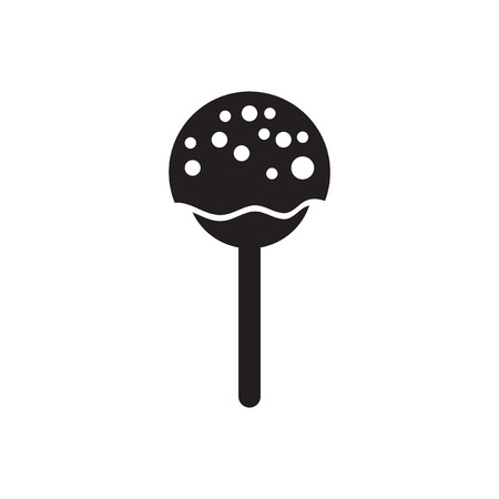 bonbon: black vector icon on white background  bonbon candy