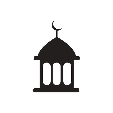community event: black vector icon on white background  ramadan festival Illustration