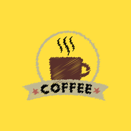instant coffee: flat vector icon design collection  cup of hot coffee