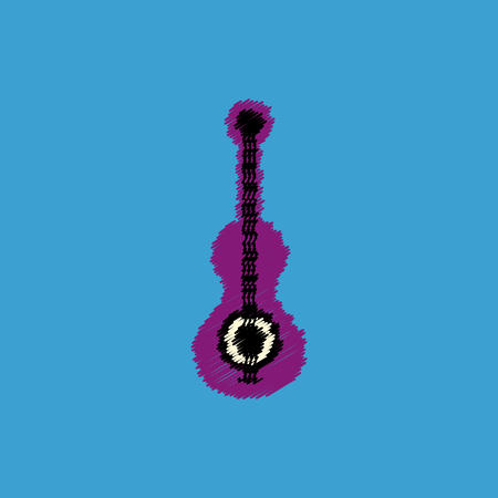 double volume: flat vector icon design collection  musical instrument