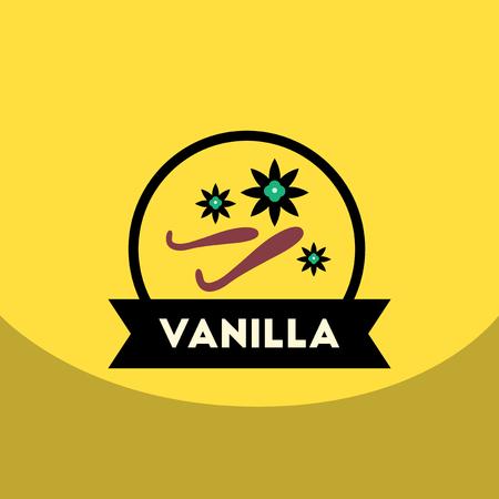 flat vector icon design collection  Kitchenware seasoning vanilla Illustration