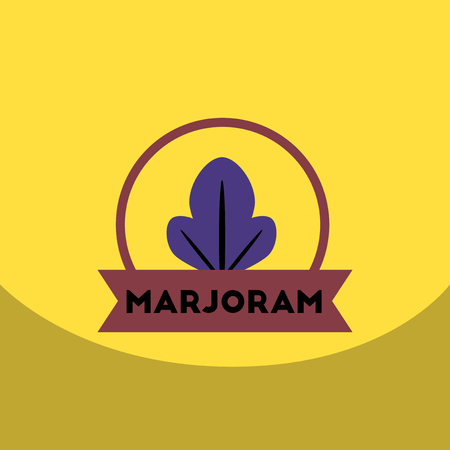 marjoram: flat vector icon design collection  Kitchenware seasoning marjoram