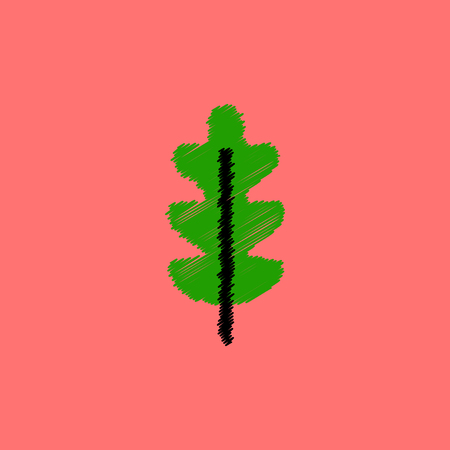 gum tree: flat vector icon design collection  tree leaf