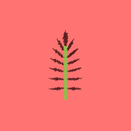 gum tree: flat vector icon design collection  leaf of tree