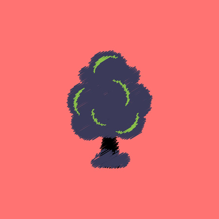 treetop: flat vector icon design collection  tree silhouette