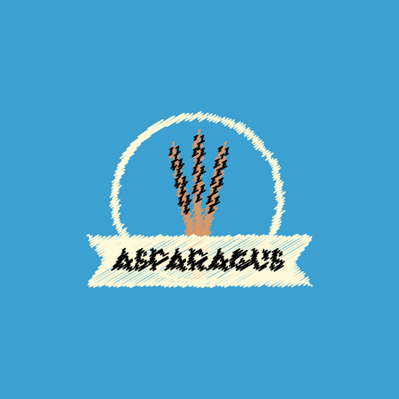 asparagus: flat vector icon design collection asparagus emblem