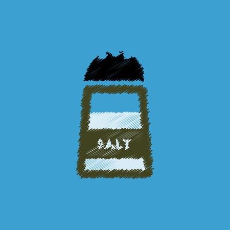 salt shaker: flat vector icon design collection salt shaker Illustration