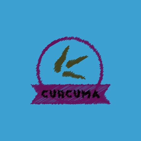 flat vector icon design collection Kitchenware seasoning curcuma