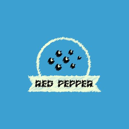 flat vector icon design collection Kitchenware seasoning red pepper Ilustração