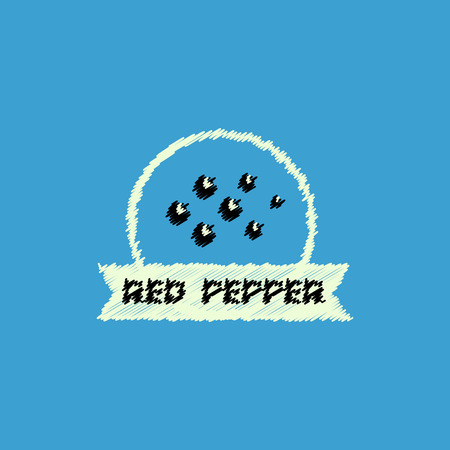 flat vector icon design collection Kitchenware seasoning red pepper Illustration