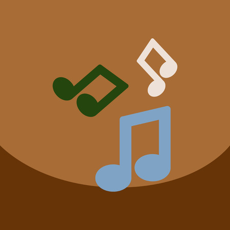 semiquaver: flat vector icon design collection  music note Illustration