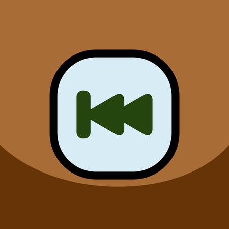 flat vector icon design collection  button music