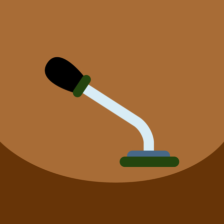 talker: flat vector icon design collection  microphone in flat style Illustration