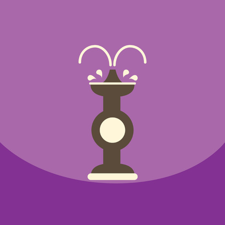 flat vector icon design collection  chocolate fountain