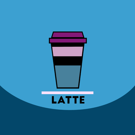 latte: flat vector icon design collection  latte to go Illustration