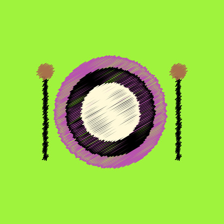 bongos: flat icon design collection  musical instrument