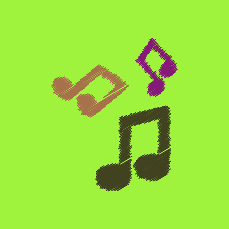 flat icon design collection  music note