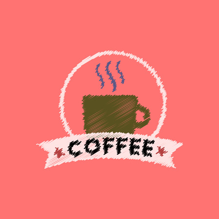flat icon design collection  cup of hot coffee