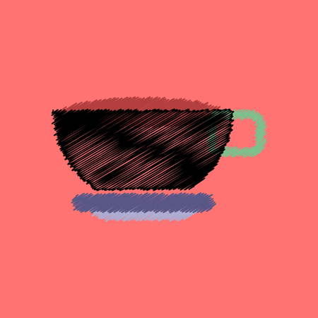 instant coffee: flat icon design collection  cup of tea