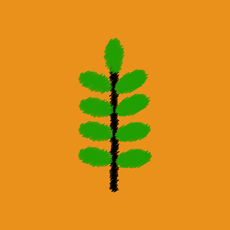 flat icon design collection  leaf of tree Illustration