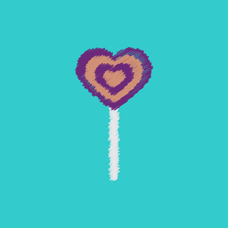 flat icon design collection bonbon candy