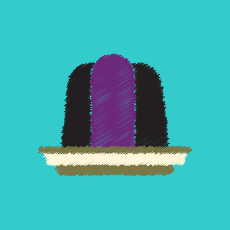 wobbly: flat icon design collection jelly dessert