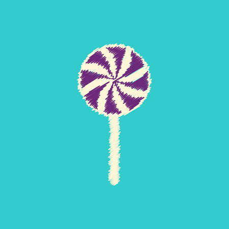 flat icon design collection bonbon candy
