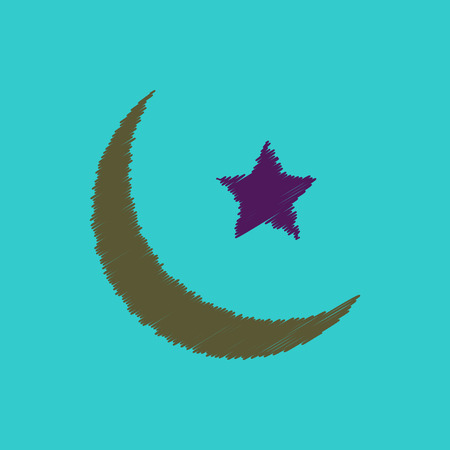 flat icon design collection ramadan festival