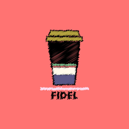 flat icon design collection  fidel coffee to go