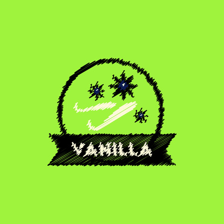 flat icon design collection Kitchenware seasoning vanilla